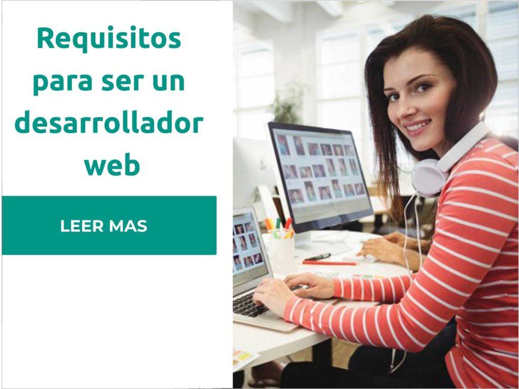 requisitos para ser desarrollador web