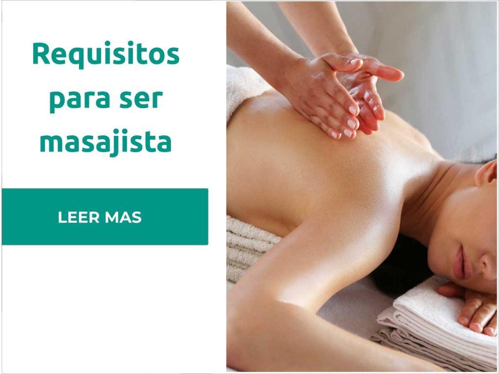 requisitos para ser masajista