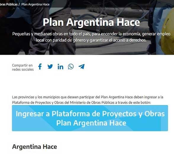 Requisitos para acceder al Plan Argentina Hace