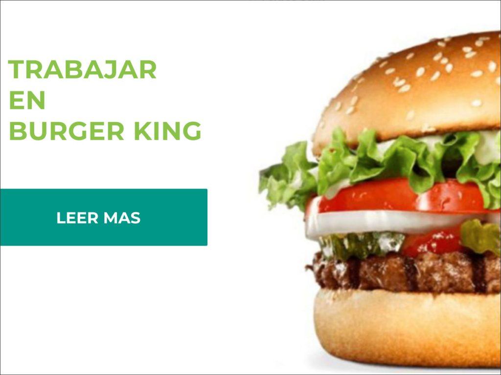 requisitos para trabajar en burger king