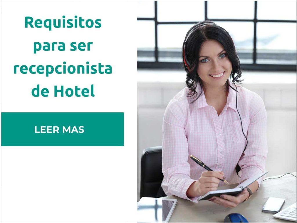requisitos recepcionista hotel