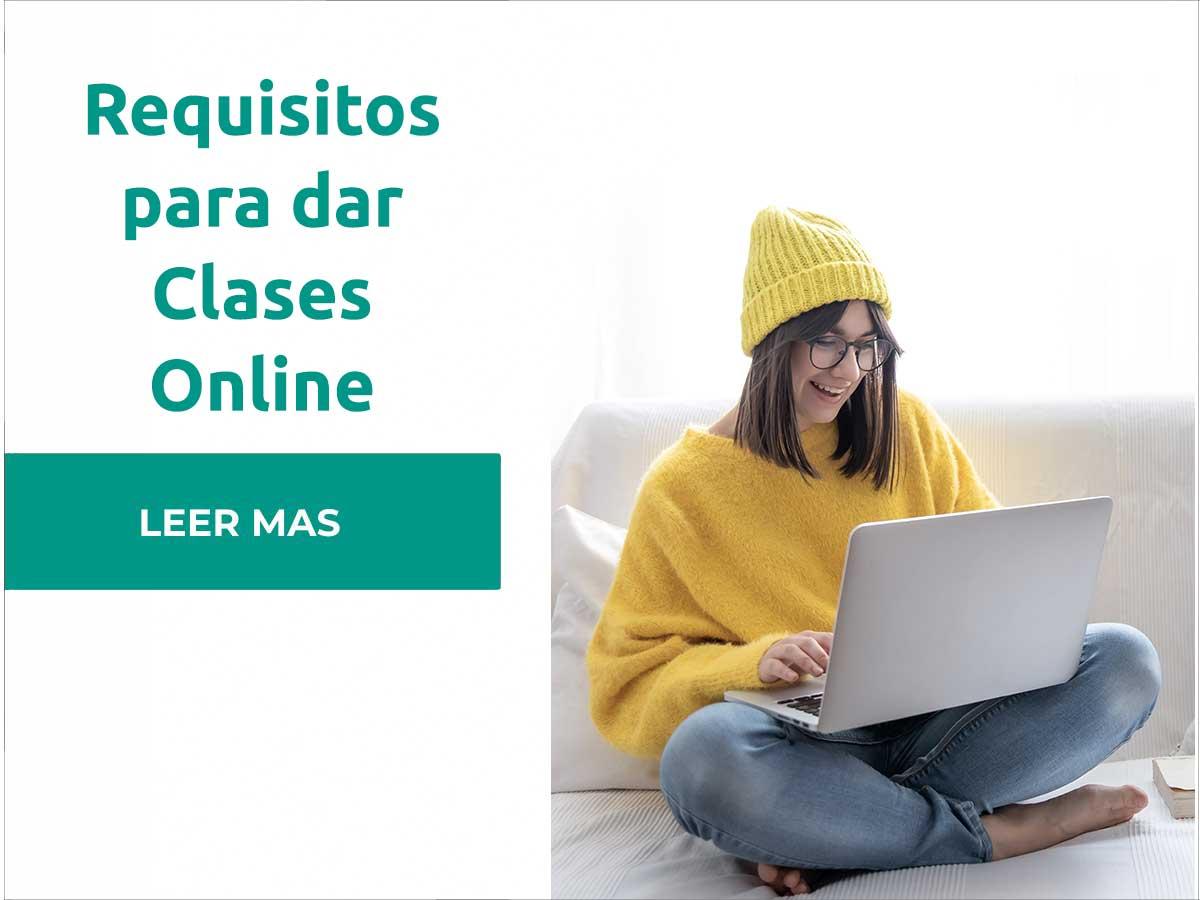 Requisitos para dar clases online