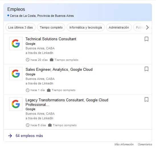 Puestos de trabajo en Google
