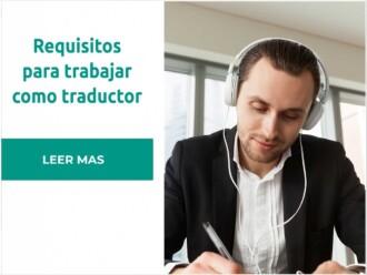 Requisitos para trabajar de traductora