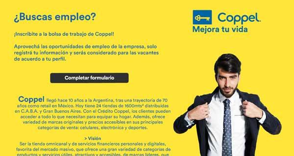 Postularse para Coppel Argentina
