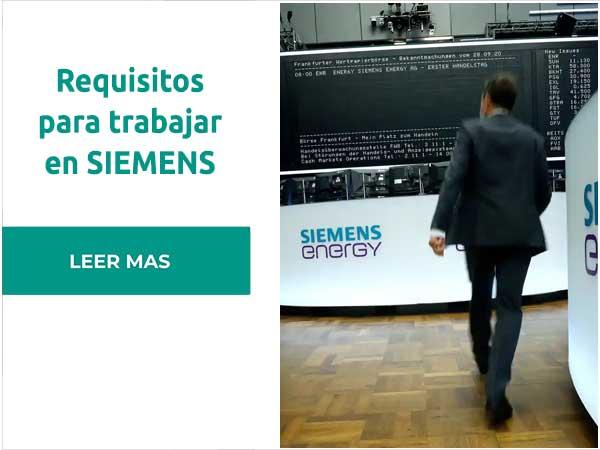 Requisitos para trabajar en Siemens Gamesa