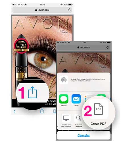 Enviar catalogo de Avon por Whatsapp - Paso 2