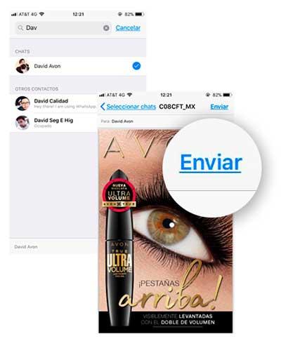 Enviar catalogo de Avon por Whatsapp - Paso 6