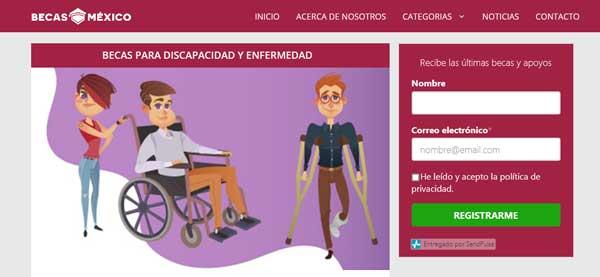 Becas para Discapacidad y Enfermedad