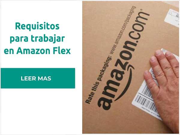 Requisitos para trabajar en Amazon Flex
