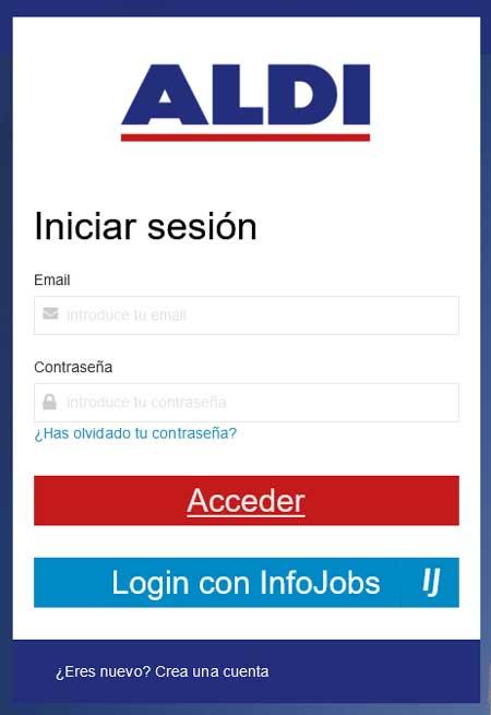 Portal de empleo de Aldi