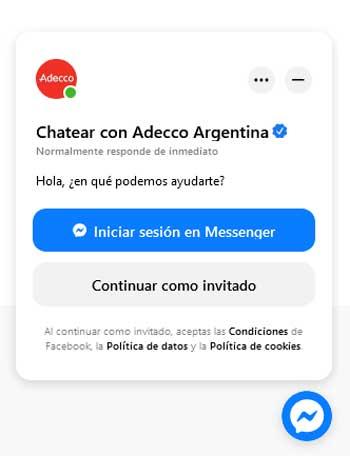 Contactarse con Adecco