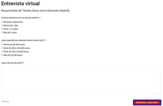 Aldi - Entrevista virtual