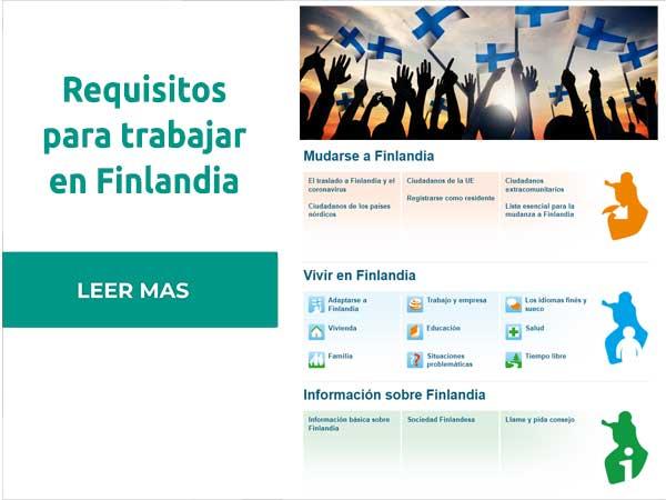 Requisitos para trabajar en Finlandia